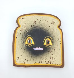 "Big Eyed Toast Painting 5"" X 5"" by Tripper Dungan"