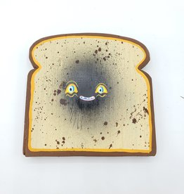 "Little Faced Toast Painting 5"" X 5"" by Tripper Dungan"
