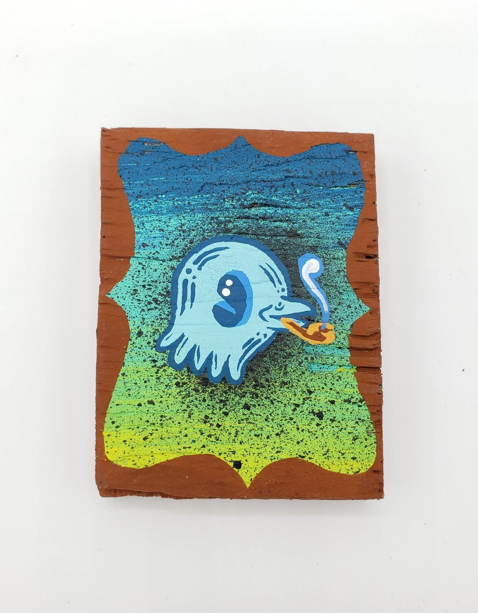 """Little Blue Bird Painting 2"""" X 2.5"""" by Tripper Dungan"""
