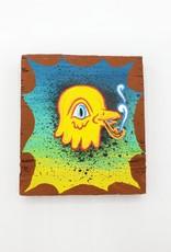 "Little Yellow Bird Painting 3"" X 3.5"" by Tripper Dungan"