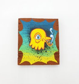 "Little Yellow Bird Painting 3"" X 3.5"" by Tripper Dungan"