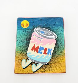 "Melk Painting 3"" x 4"" by Tripper Dungan"