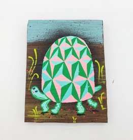 "Turtle Painting 4"" x 5.5"" by Tripper Dungan"