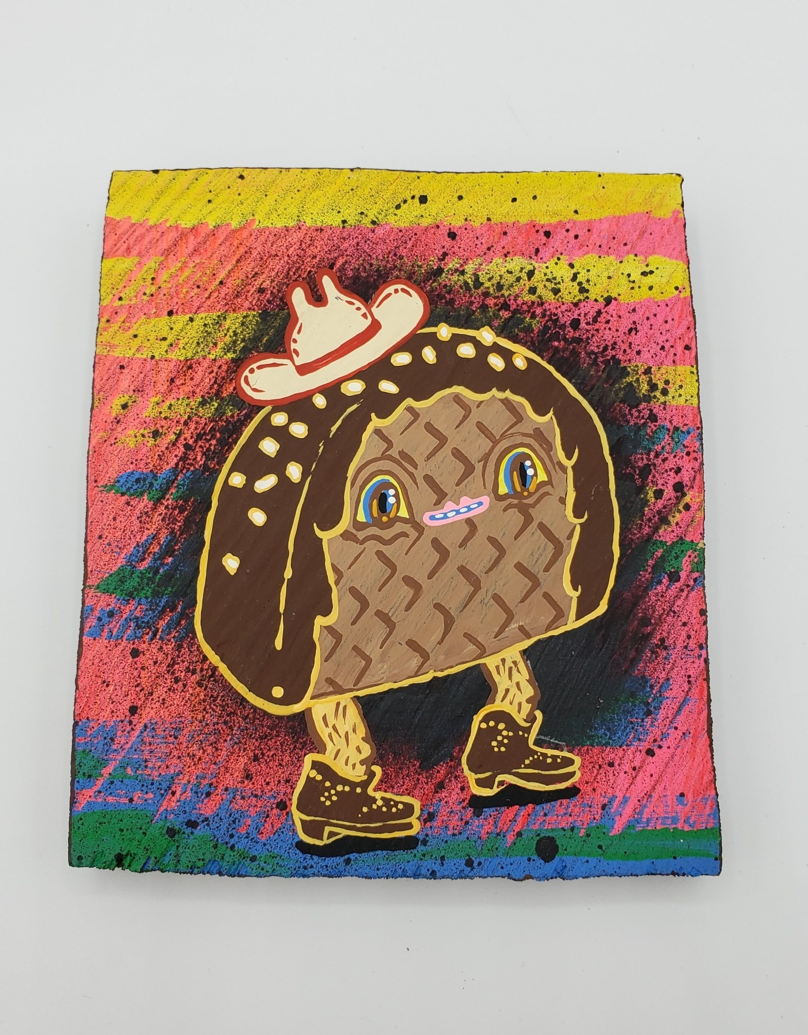 "Choco Taco Painting 4"" x 5.5"" by Tripper Dungan"