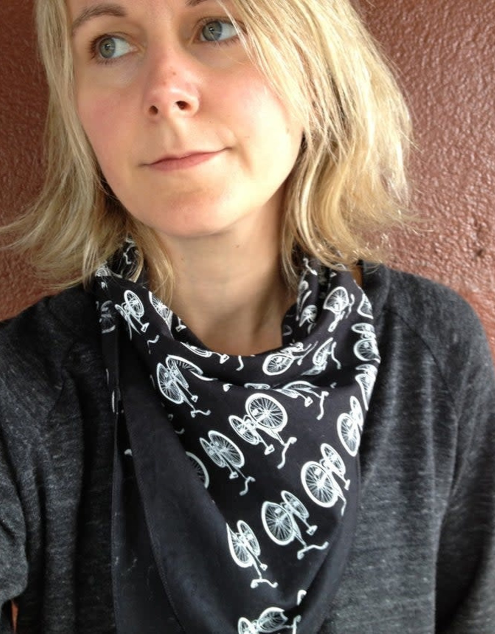 Bicycle Bandana in Red by Little Lark