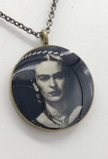 Redux Frida Kahlo - Patroness Saint Pendant