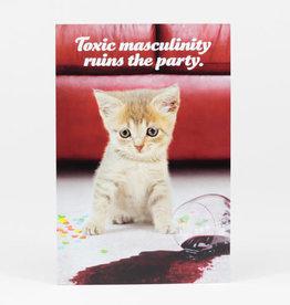 """Sean Tejaratchi """"Toxic Masculinity"""" Postcard - Social Justice Kittens & Puppies, by Sean Tejaratchi"""