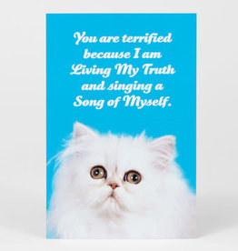 "Sean Tejaratchi ""You Are Terrified"" Postcard - Social Justice Kittens & Puppies, by Sean Tejaratchi"