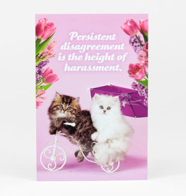 "Sean Tejaratchi ""Persistent Disagreement"" Postcard - Social Justice Kittens & Puppies, by Sean Tejaratchi"