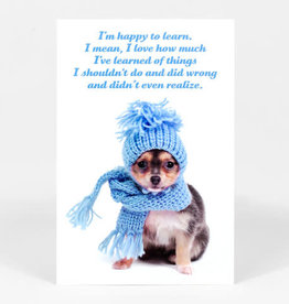 "Sean Tejaratchi ""I'm Happy to Learn"" Postcard - Social Justice Kittens & Puppies, by Sean Tejaratchi"