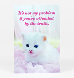 "Sean Tejaratchi ""It's Not My Problem"" Postcard - Social Justice Kittens & Puppies, by Sean Tejaratchi"