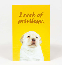 "Sean Tejaratchi ""I Reek Of Privilege"" Postcard - Social Justice Kittens & Puppies, by Sean Tejaratchi"