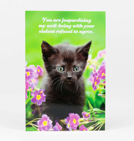 "Sean Tejaratchi ""You Are Jeopardizing"" Postcard - Social Justice Kittens & Puppies, by Sean Tejaratchi"