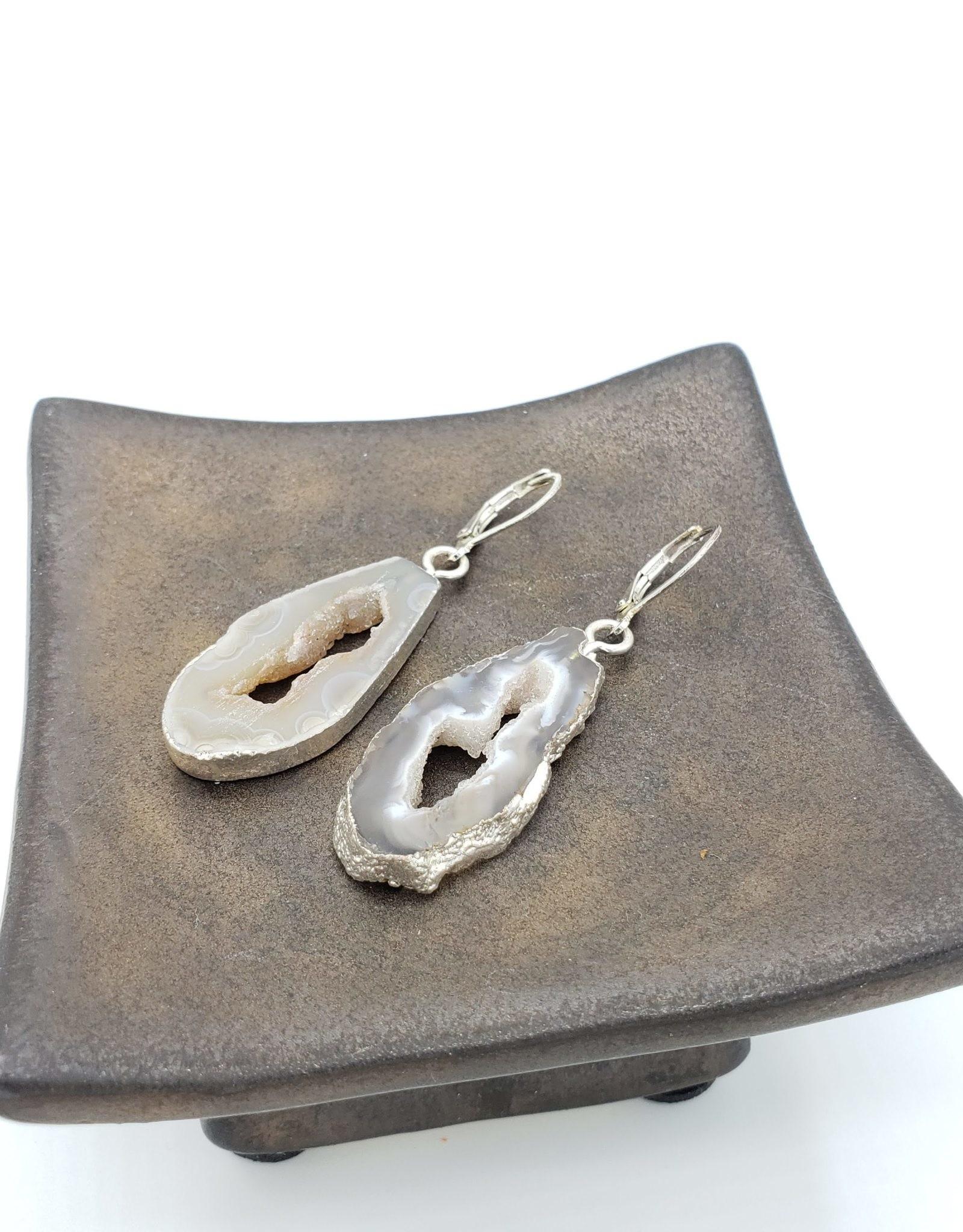 Geode Slice Earrings