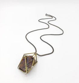"""DNA Galleries """"Constellation"""" Cage Necklace, Bornite - by DNA"""