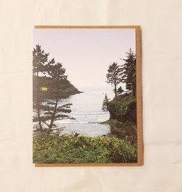 Whale Cove, Oregon Coast Greeting Card - Little Lark