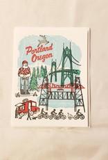 Portland Oregon Greeting Card - Ilee Paper