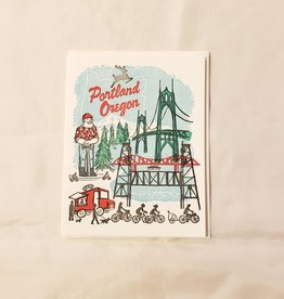 Portland Oregon Greeting Card - Ilee Paper