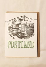 Food Cart Portland Greeting Card - Waterknot