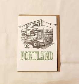 Food Cart Portland Greeting Card - Waterknot
