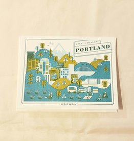 Greetings From Portland Oregon Greeting Card - Hello! Lucky