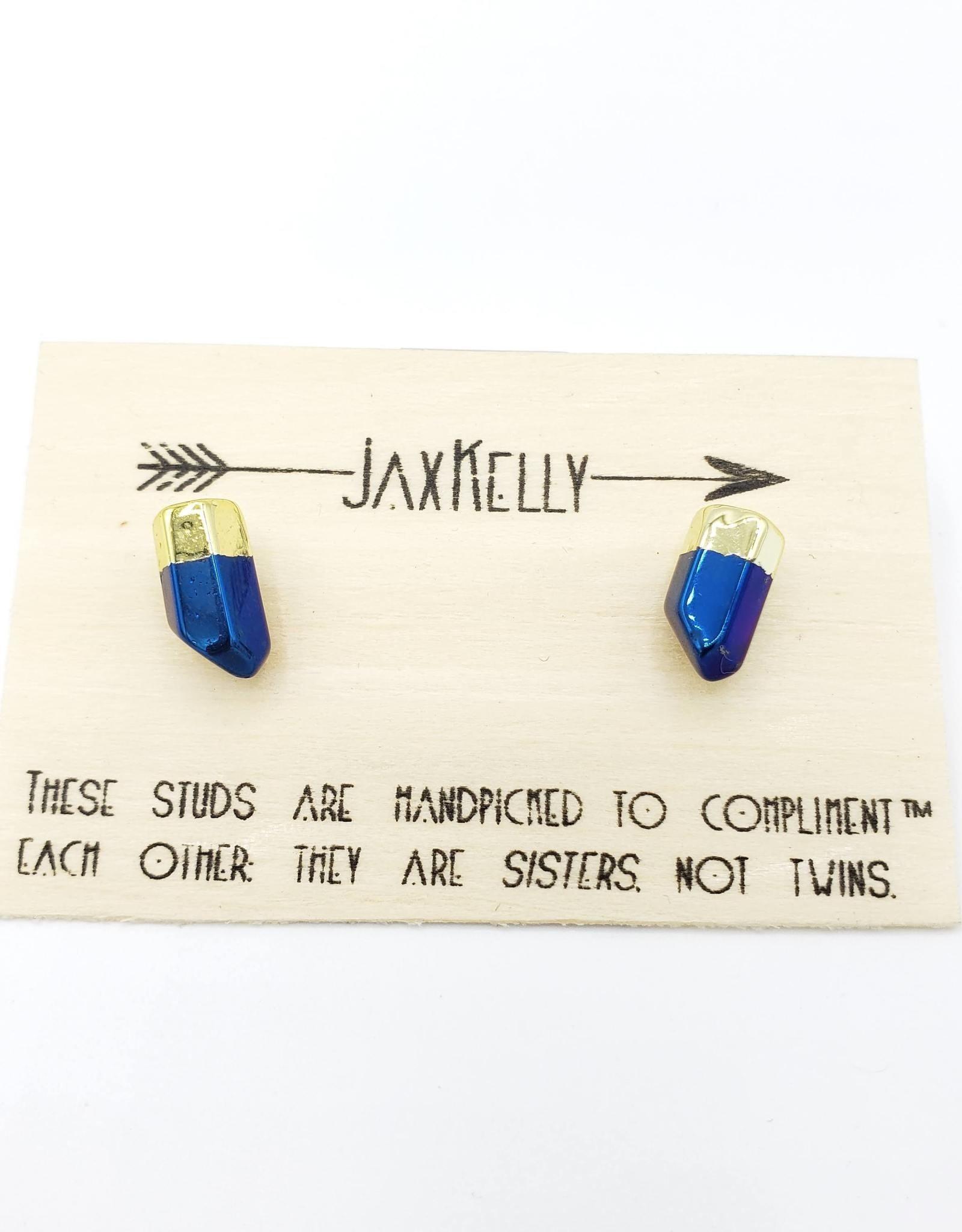 Jax Kelly Peacock Quartz Point Earring