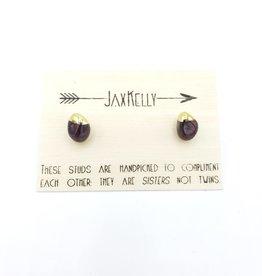 Jax Kelly Garnet Cabachon Post Earring