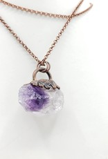 TTereve Rough Amethyst Necklace on Electroformed Copper