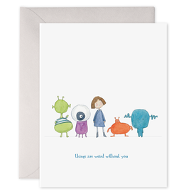 """Things Are Weird"" Greeting Card - E. Frances Paper"