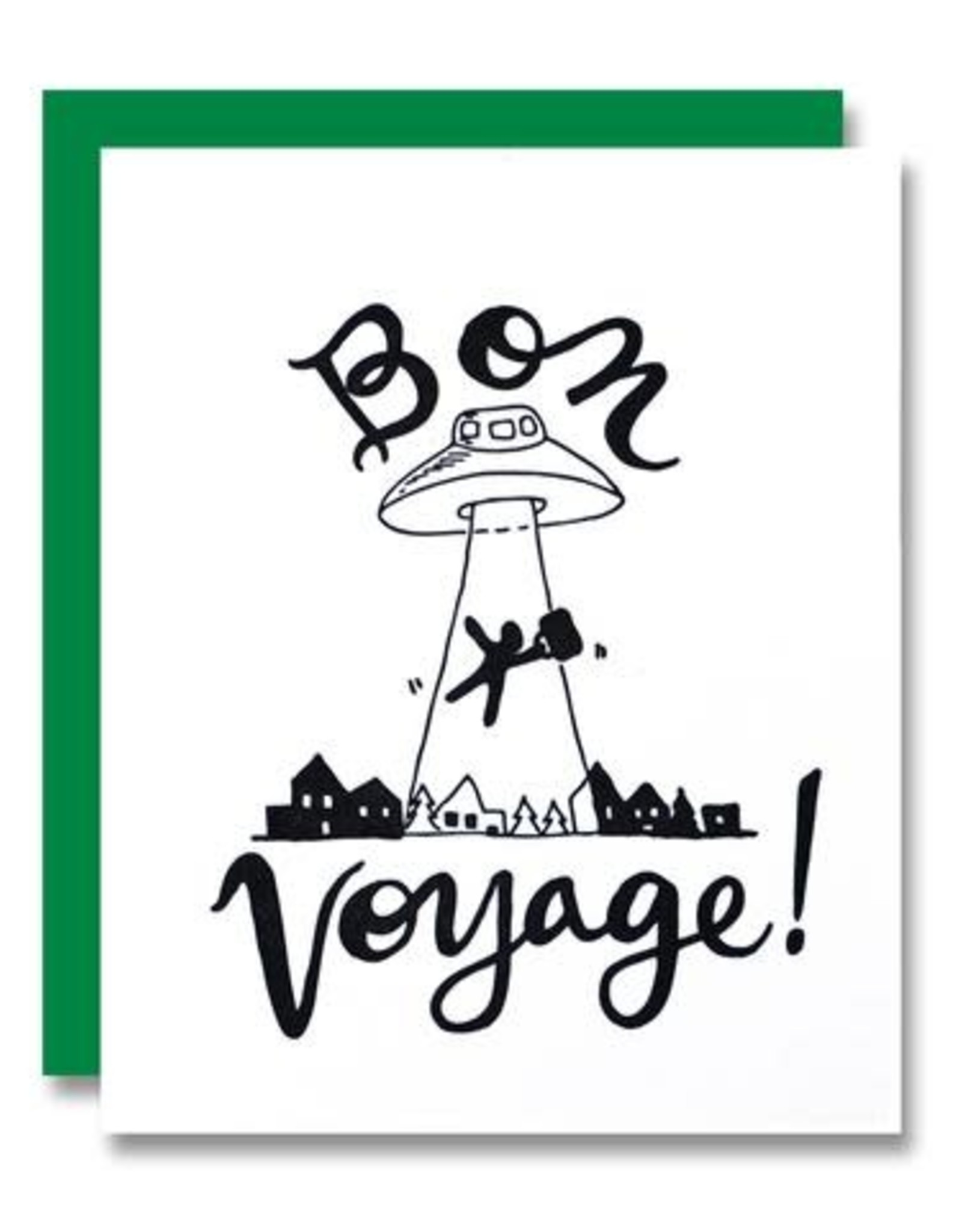 """""""Bon Voyage"""" Greeting Card - Papa Llama"""