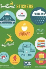 Badgebomb Portland Oregon Gift Label Sticker Sheets -3 per pack