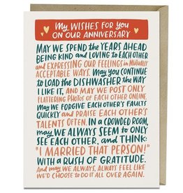 "Emily McDowell ""My Wishes For You"" Anniversary Greeting Card - Emily McDowell"