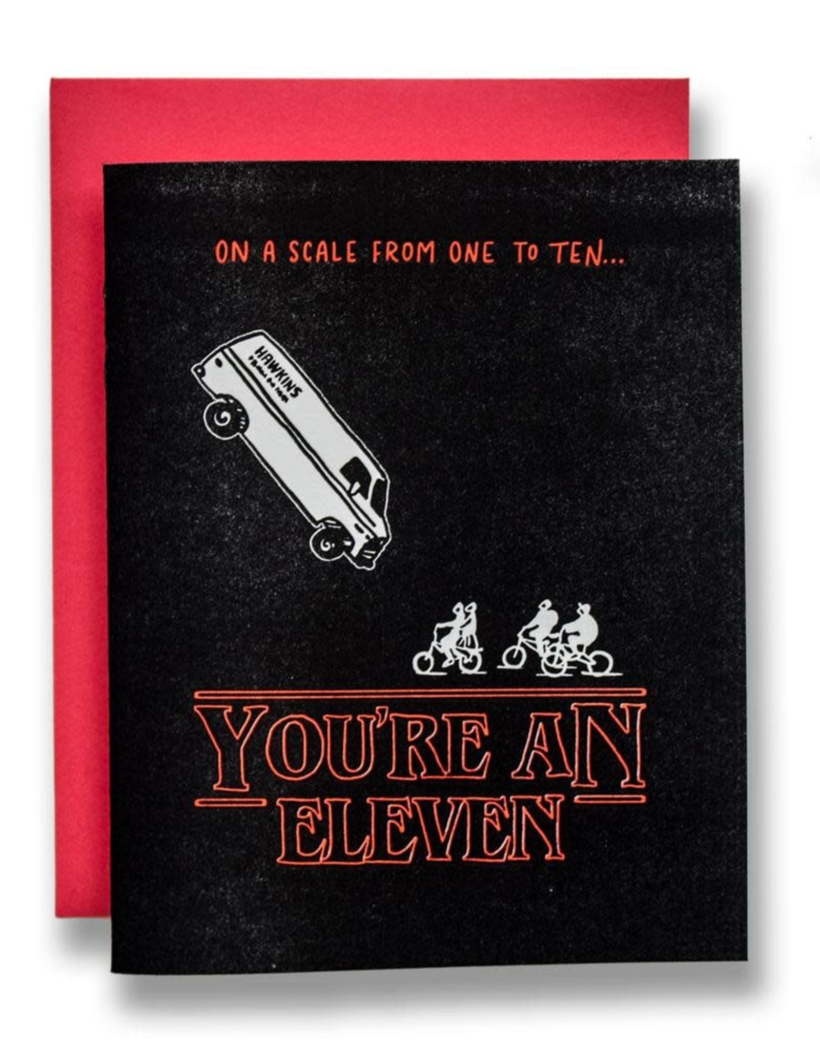 """""""You're an Eleven"""" Greeting Card - Ladyfingers"""