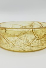 Dandelion Seeds in Resin Cuff Bracelet