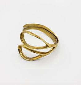 Monserat de Lucca Scissors bracelet, brass by Monserrat de Lucca
