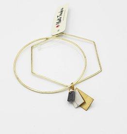 Mata Traders Hex and Charm Bracelet, Gold - Mata Traders