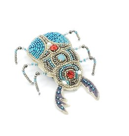 Beaded Jeweled Insect Barrette