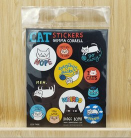 Gemma Correll Cats Gift Label Sticker Sheets - 3 per pack by Gemma Correll