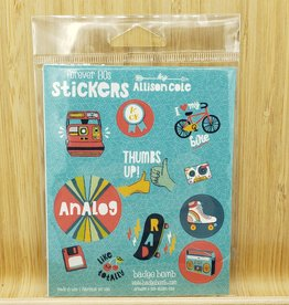 Forever 80's Gift Label Sticker Sheets -3 per pack by Allison Cole