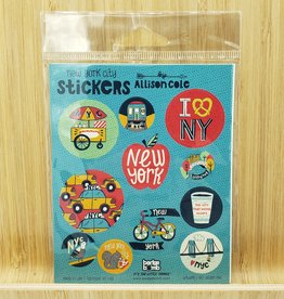 New York City Gift Label Sticker Sheets -3 per pack by Allison Cole