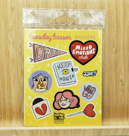 Tuesday Bassen Girls Gift Label Sticker Sheets -3 per pack by Tuesday Bassen