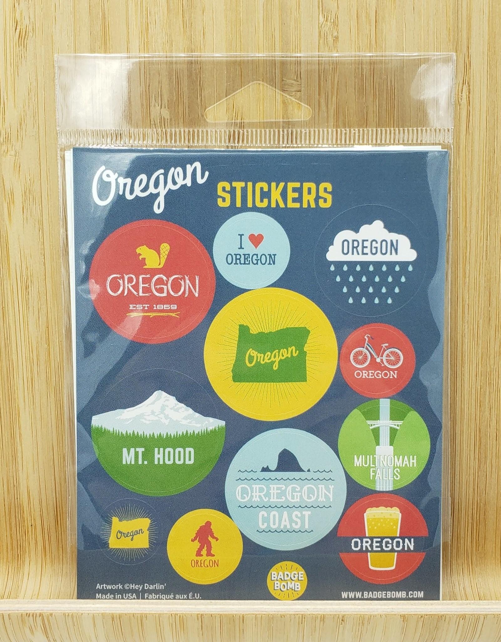 Badgebomb Oregon Gift Label Sticker Sheets -3 per pack