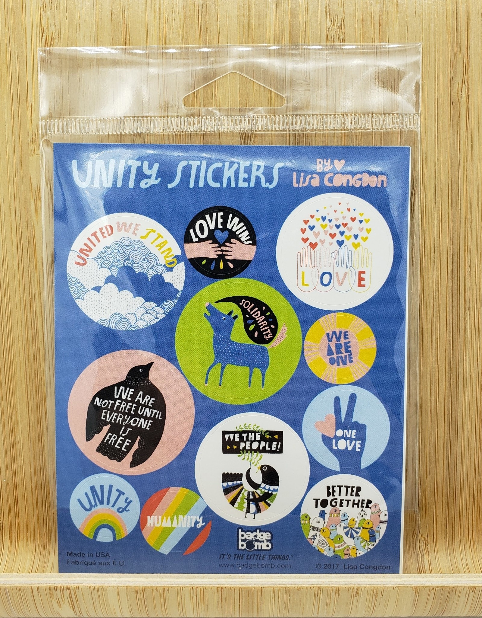 Unity Sticker Sheets -3 per pack by Lisa Congdon