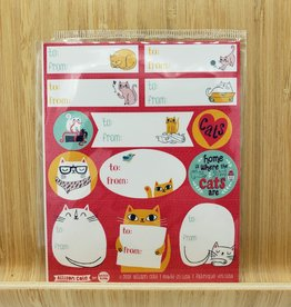 Allison Cole Birthday Cats Gift Label Sticker Sheets -3 per pack by Allison Cole