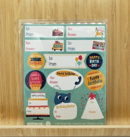 Allison Cole Birthday Gift Label Sticker Sheets -3 per pack by Allison Cole