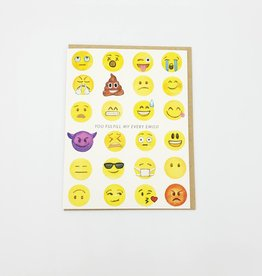 """You Fulfill My Every Emoji"" Greeting Card - Dear Hancock"