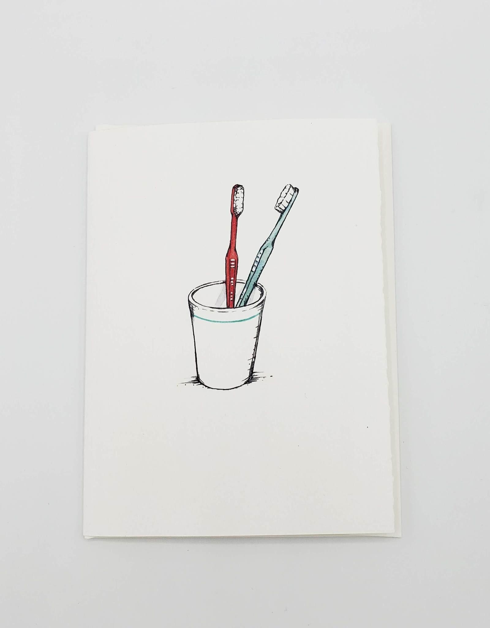 Toothbrushes Anniversary Greeting Card - Redbird Studio