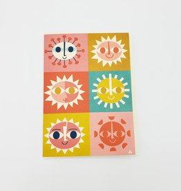 Here Come the Suns Greeting Card - by Eric Comstock