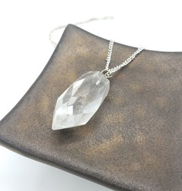 Faceted Crystal Bullet Pendant