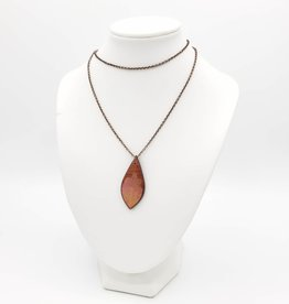 by Kali Resin Leaf and Wood Necklace